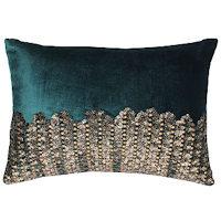 Cloud9 Design Adana Gold Beadwork Decorative Pillows