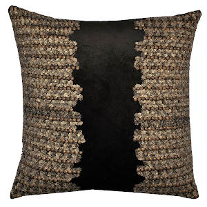 Cloud9 Design Adana Gold Beadwork Decorative Pillows