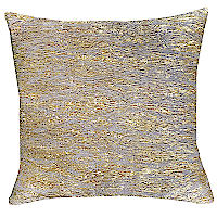 Textured pillow with gold.