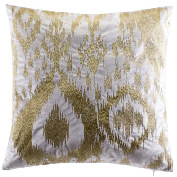 Cloud9 Design ASTOR02J-IVGD (22x22) Astor Ivory Velvet with Gold Embroidery Decorative Pillow