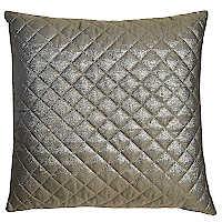 Metallic gold chevron pillow with diamond quilting.