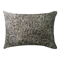 Stone velvet pillow with individual decor.