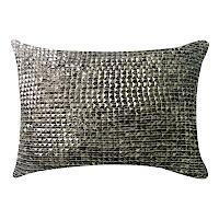 Stone velvet pillow with individual decor.
