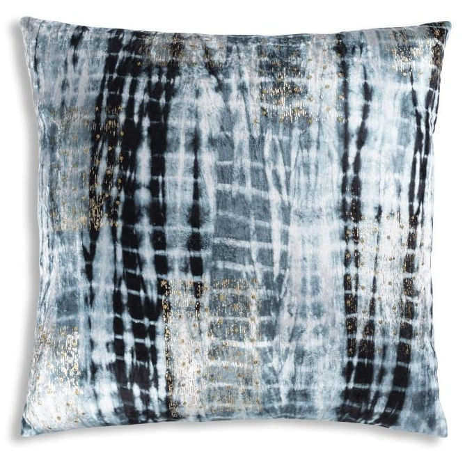 Cloud9 Design Boheme Navy-Grey-Ivory Tie Dye Decorative Pillow