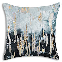 Shibori Tie dye in Navy with gold foil and embroidery to highlight.
