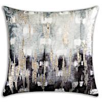 Cloud9 Design Boheme Charcoal Shibori Decorative Pillow