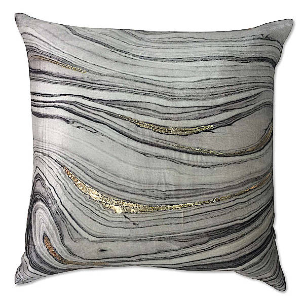 Cloud9 Design Mayaro Gold Brushstroke Printed Decorative Pillow