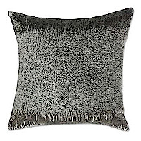 Velvet Pillow Grey rouched velvet with gun metal beads.