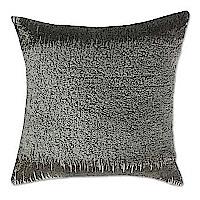 Velvet Pillow Grey rouched velvet with gun metal beads.
