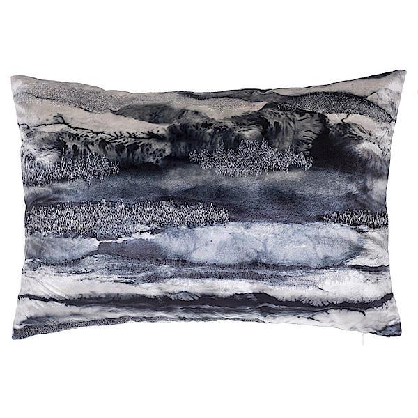 Cloud9 Design CAPRI02C-CHL (14x20) Capri Tie Dye with Metallic Embroidery Decorative Pillow