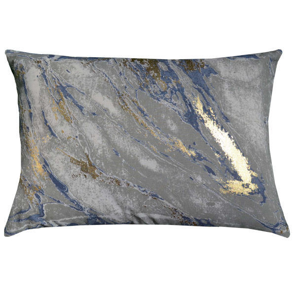 Cloud9 Design CHAR03C-CH Capri Charcoal Tie Dye with Gold Print Decorative Pillow