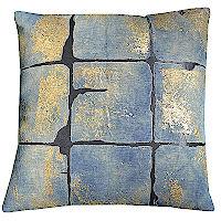 Linen slub with pintuck decorative pillow.