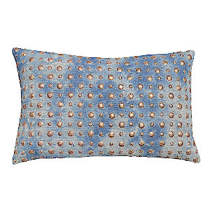 Cloud9 Design Char Tie Dye with Gold Studs Decorative Pillow