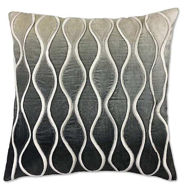 Cloud9 Design Corsica Silver Foil Decorative Pillow