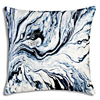 A collection of decorative pillows displaying the wow factor with beautiful prints in blue.