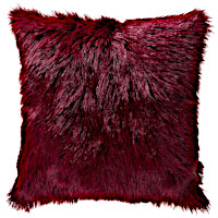 The Lhasa decorative pillows are available in many different colors.