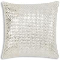Cloud9 Design Mica Gold and Silver Decorative Pillow