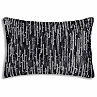 Bold pattern pillows inspired by rock texture will make a brilliant statement in any room.