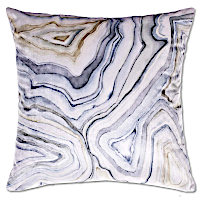 Feel the thrill with these pillows inspired by the creative lines of nature.
