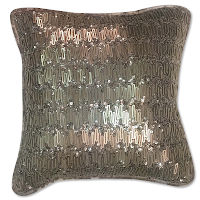 Polydupioni pillow with hand embroidery and velvet back.