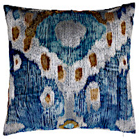 Enjoy these embroidered velvet decorative pillows with pop out designs.