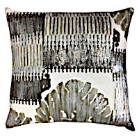 Hand embroidered pillows in antique style with a modern touch.