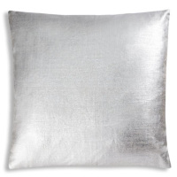 Natural linen pillow with all over gold or silver foil.