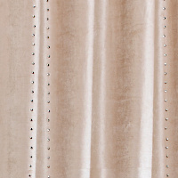 Velvet or viscose drapery panel with six columns of silver metal studs.