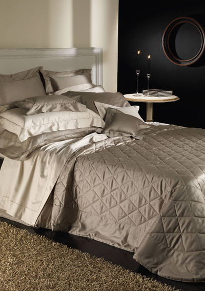 Cottimaryanne Morgana Bedding is a luxurious Egyptian cotton quilted sateen with a generous 450 thread count available in all Visconti colors.