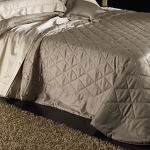 Morgana quilted bedding is a custom color quilted fabric choice made in Italy.