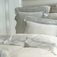 Cottimaryanne Bedding Tre Righe Collection includes Duvet Cover, Sheet Sets, Pillowcases, Sham and Coverlets.