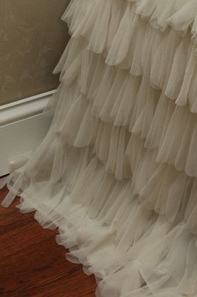 Couture Dreams Chichi Ivory Petal Bedskirt