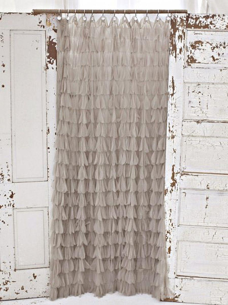 Romantic shower curtain - Sable