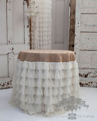 The Couture Dreams Chichi Petal and Jute Tablecloth.