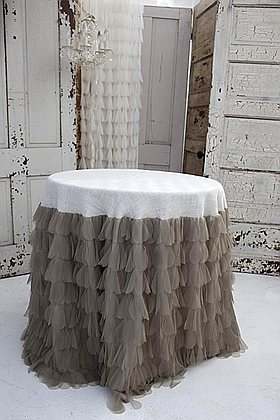 The Couture Dreams Chichi Petal and Jute Tablecloth
