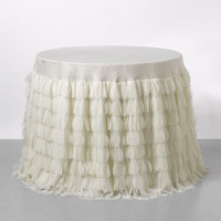 A mixture of different textures and materials make up this unique table covering for a sophisticated and custom feel.