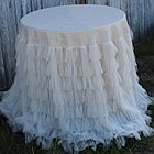 Couture Dreams Chichi Ivory Shimmer Tablecloth