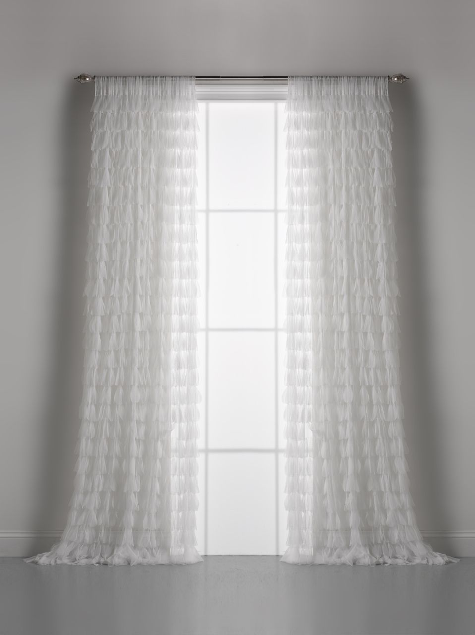 White window curtains - White