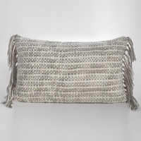 Cozi woven decorative pillow by Couture Dreams makes a warm statement in any room.
