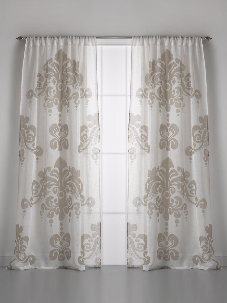 Window Curtains: Couture Dreams Enchantique Linen Gauze Window Curtain
