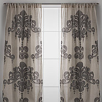 Couture Dreams Enchantique Linen Gauze Curtain Panels are what we like to call a French inspired Art Deco with a Modern Twist.