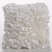 Couture Dreams Heavenly Ivory Decorative Pillow is the perfect staple to decorating a room.