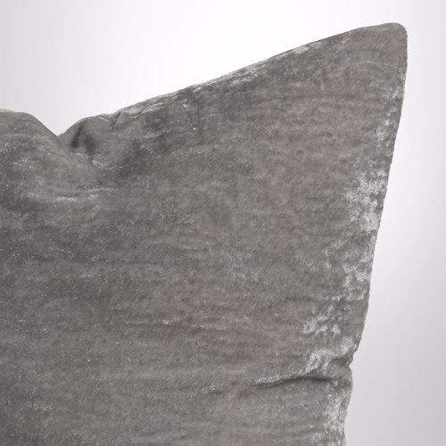 Couture Dreams Luscious Decorative Pillow - Platinum Close-up.