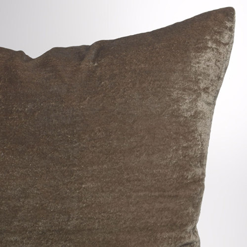 Couture Dreams Luscious Decorative Pillow - Soft Earth Close-up.