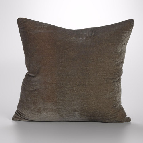 Couture Dreams Luscious Decorative Pillow - Soft Earth.