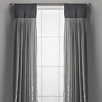 Couture Dreams Luscious Soft Earth Silk Velvet and Natural Jute Window Curtain