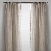 Couture Dreams Solid Linen Gauze Window Curtains are a simple, distinct, elegant curtain.