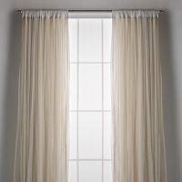 Couture Dreams Whisper Ivory Window Curtain