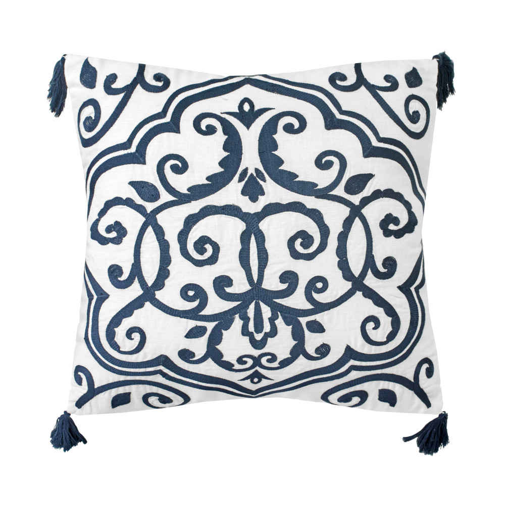 dena atelier decorative pillow tasseled medallion