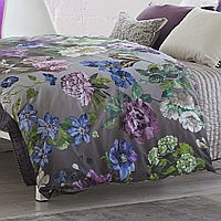 Statement bedding, our gorgeous illustrated botanical Alexandria offers the finest in digitally printed cotton bedding.